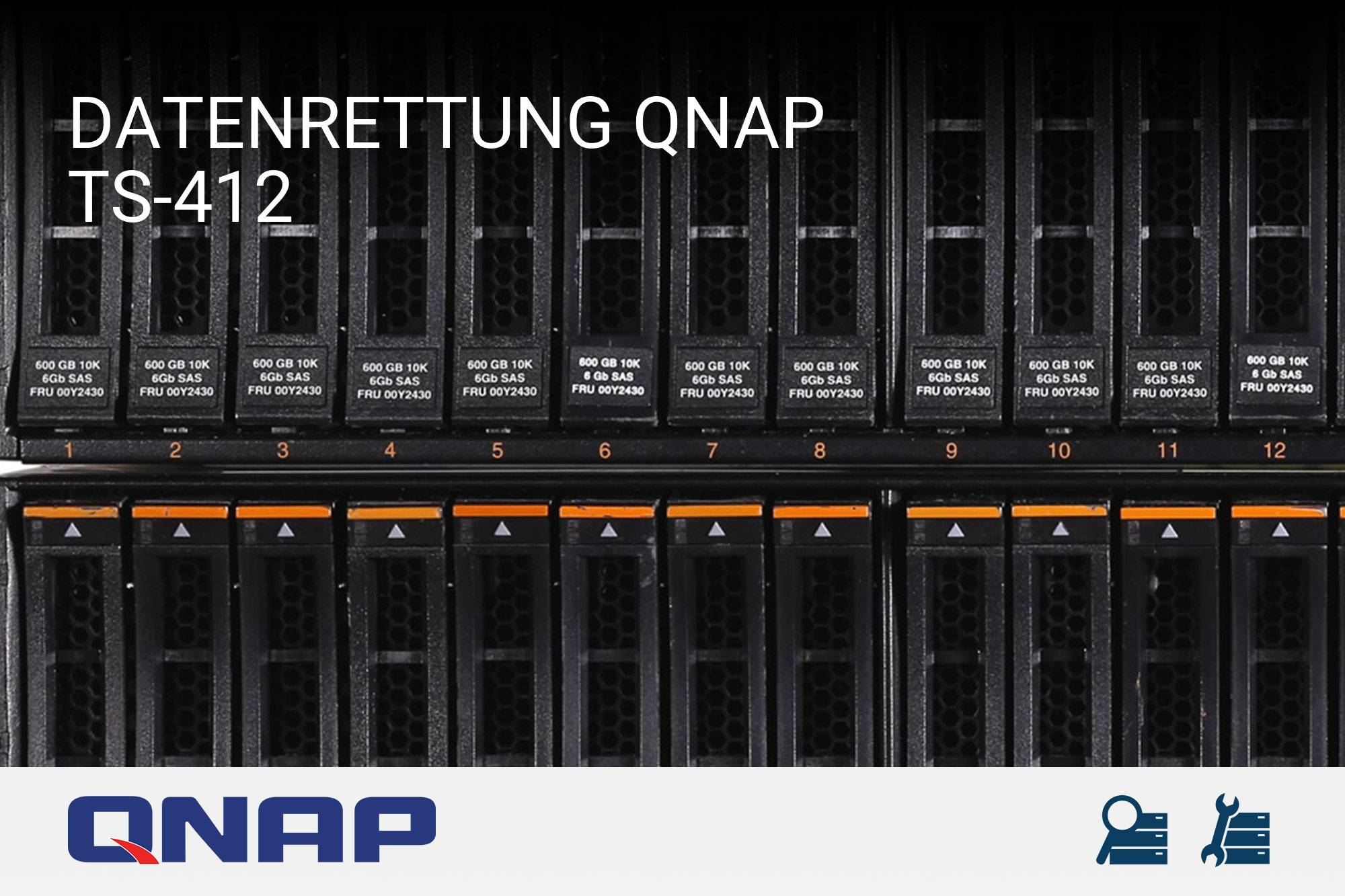 datenrettung qnap turbostation ts 412 server recovery. Black Bedroom Furniture Sets. Home Design Ideas